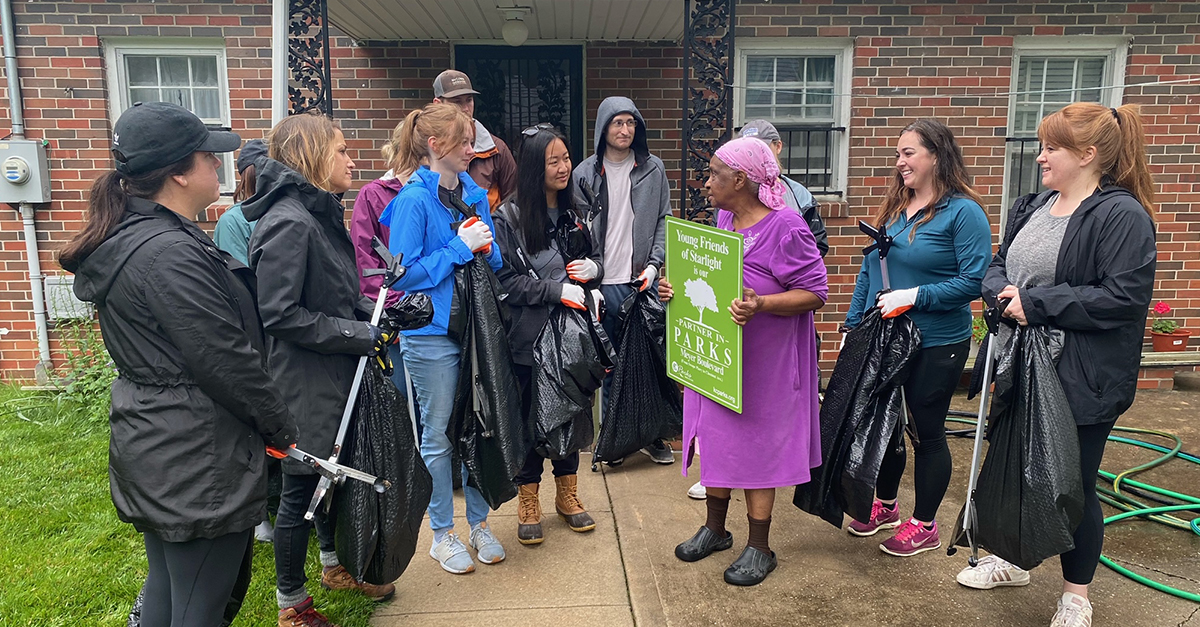 Young Friends of Starlight Adopt Stretch of Meyer Boulevard