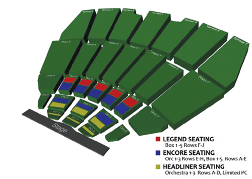 Concert Season Tickets Seating Chart