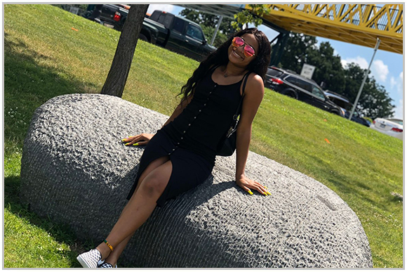 T'Khara Jones enjoting a day in the park.