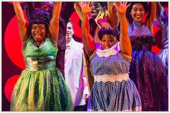 Amari Lewis performing in Hairspray