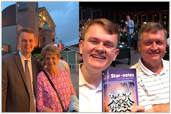 Corey Goodburn with his family at Starlight Theatre.