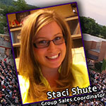 Staci Shute is Our New Group Sales Coordinator