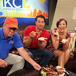 "Diana DeGarmo and Ace Young get a taste of KC BBQ on ""KC Live"""